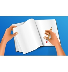 Hand writing with a pencil vector image vector image