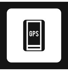 Handheld JPS icon simple style vector image vector image