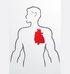 Heart and human body - vector image vector image