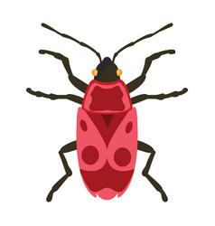 insect icon flat isolated vector image vector image