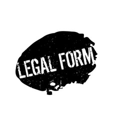 Legal form rubber stamp vector