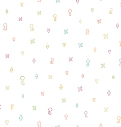 Little hearts crosses and geometric shapes vector