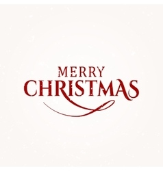 Merry Christmas text vector image vector image