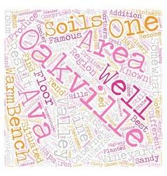 Oakville ava txt text background wordcloud concept vector