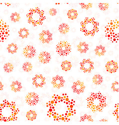 Orange color abstract seamless circles design vector
