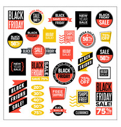 set of banners for black friday and holiday sales vector image vector image