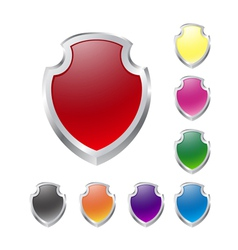 Set of shields on white vector image