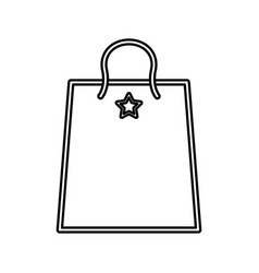 shopping bag gift vector image vector image