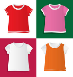 t-shirts and waistcoat vector image