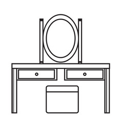 Thin line dresser icon vector