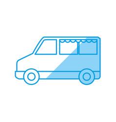 van vehicle transport vector image vector image