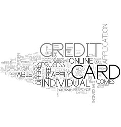Why one should apply online free for a credit vector
