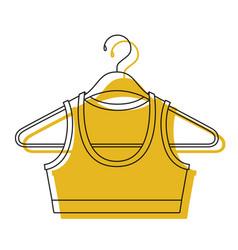 Yellow watercolor silhouette shirt top for women vector