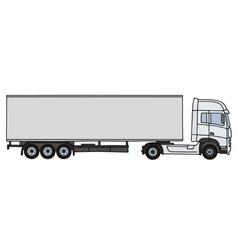 White long semitrailer vector image