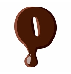 Number 0 from latin alphabet made of chocolate vector
