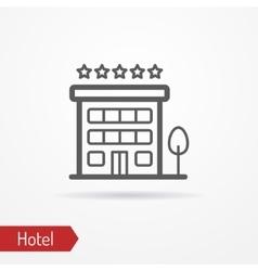 Hotel silhouette icon vector image