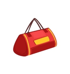 Red soft sportive handbag with double handles item vector