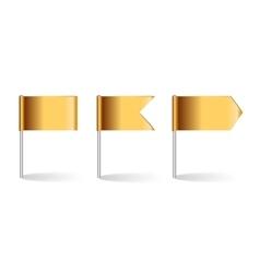 Golden Flags Set vector image