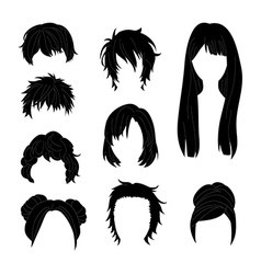 Hairstyle man and woman black vector