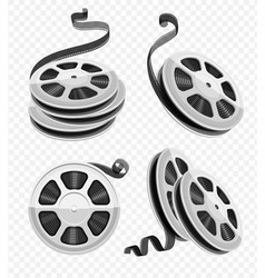 movie video film disks vector image