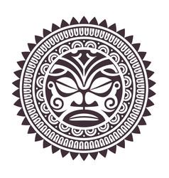 polynesian mask vector image