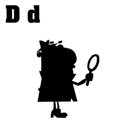 Cartoon detective with letter vector image