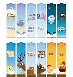 Animal web banners vector