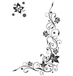 Filigree floral border vector