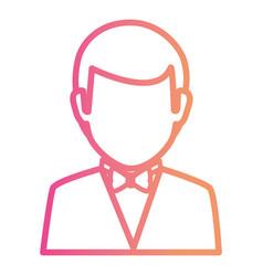 Elegant businessman avatar character vector
