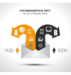 Infographic elements - set of paper tags icons vector