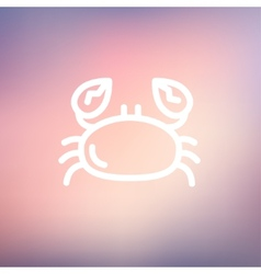 Crab thin line icon vector image