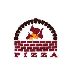 Brick oven pizza vector