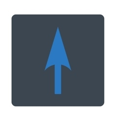 Arrow axis y flat smooth blue colors rounded vector