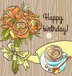 happy birthay vector image
