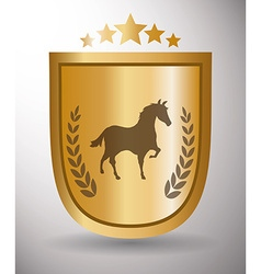 Horse riding design vector