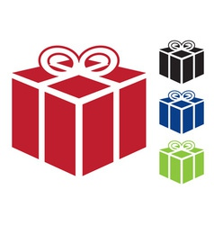 web icon for gift vector image
