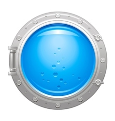 Porthole icon with silver metalic porthole and vector