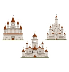 Medieval royal castle and palaces vector