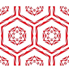 Abstract red rose tile pattern vector