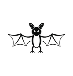 Bat icon black vector image