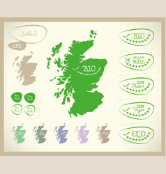 Bio map - scotland uk vector