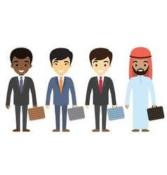 Businessmen characters of different ethnicity in vector