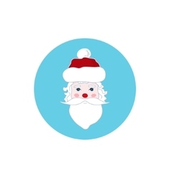 Colorful Icon Santa Claus Face Merry Christmas vector image
