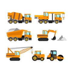 construction machine set vector image