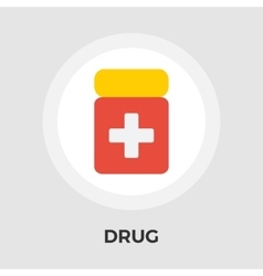 Drug flat icon vector image