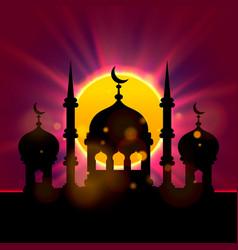 eid mubarak cover islamic beautiful vector image