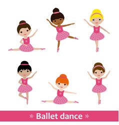 Girls doing ballet vector
