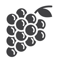 Grapes solid icon fruit and vitamin vector