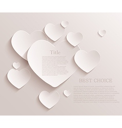 heart background Eps10 vector image vector image