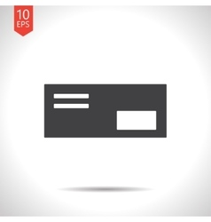 mail icon Epsflat black0 vector image vector image